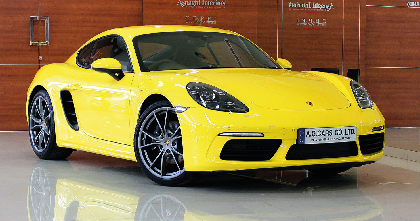 Porsche 718 Cayman Racing Yellow